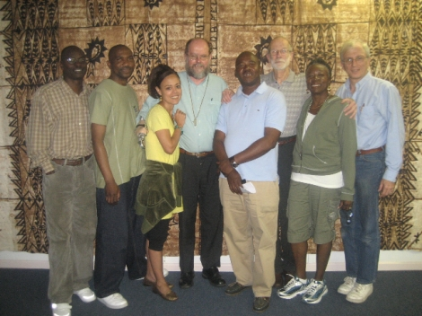 Steve Karakashian with Father Michael (fourth from left) and other Healing of Memories staff